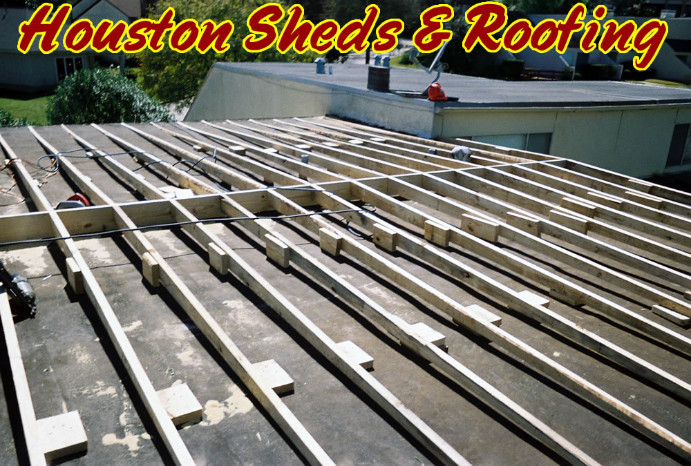 Sheds Fences Decks Roofing Roof Repair Adding Slope To An Existing Roof For Drainage