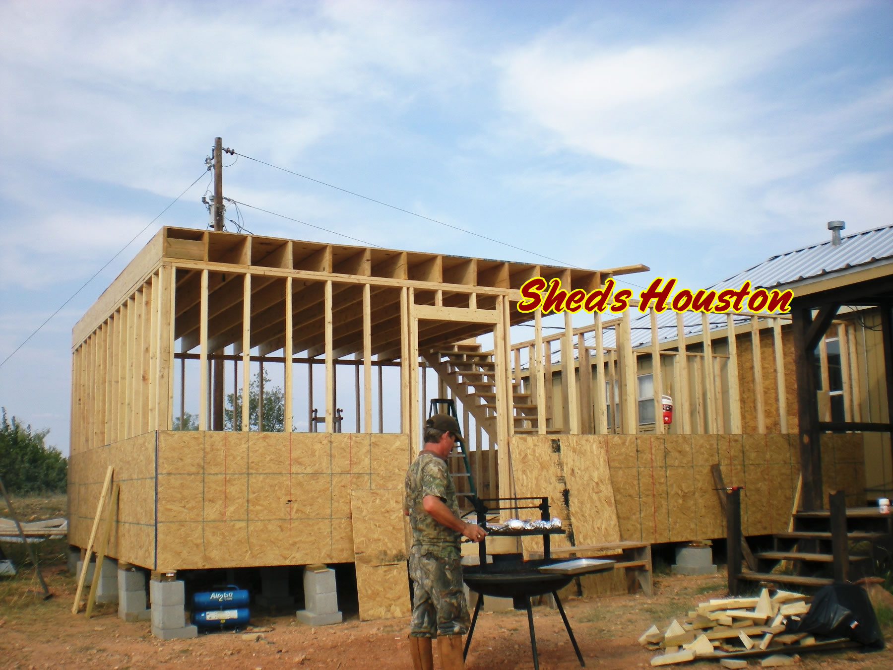 ^ 2 Story Shed House. Sheds s Houses. Pole Barn Floor Plans House ...