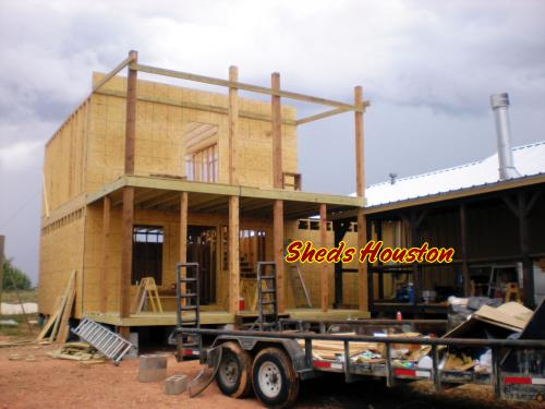 Custom 2 Story Shed in Construction