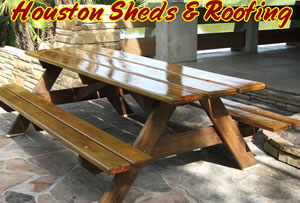 Custom Picnic Table Designs Houston Galveston Woodlands Sugar Land - Picnic table finish