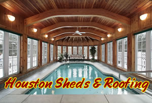 enclosed pool room ceiling construction
