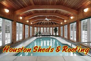 Pool House Storage Shed Houston | enlcosed swimming pool ...